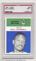 Basketball Cards:Singles (Pre-1970), Basketball 1961 FLEER BILL RUSSELL #38 NM PSA 7. ...