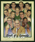 Basketball Collectibles:Others, Basketball Autograph 1956-57 Boston Celtics Team Signed ...