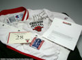 Basketball Collectibles:Uniforms, Basketball 1991-92 Horace Grant Chicago Bulls Signed Warm-Up ...