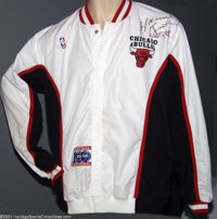 aed9dfb8e77 Basketball 1991-92 Horace Grant Chicago Bulls Signed Warm-Up ...