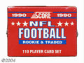 Football Cards:Sets, Football 1990 Score Rookie & Traded Factory Set (110ct.) ...