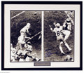 Football Collectibles:Others, Football Autograph Roger Staubach & Drew Pearson Dual Signed ...