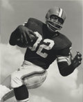 Football Collectibles:Photos, Football Jim Brown B/W Framed Ozzie Sweet Photograph ...
