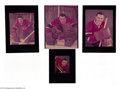 Hockey Collectibles:Photos, Hockey (10ct.) Jacques Plante NHL Ozzie Sweet Transparencies ...