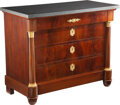 Furniture, An Empire Gilt Bronze-Mounted Mahogany Commode with Granite Top. 34 x 42-1/2 x 21 inches (86.4 x 108.0 x 53.3 cm). Prope...