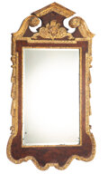 Furniture, A Continental Carved and Giltwood Mirror, 19th century. 50 x 27-1/2 x 2 inches (127 x 69.9 x 5.1 cm). Property from the ...