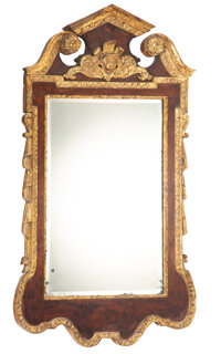 A Continental Carved and Giltwood Mirror, 19th century 50 x 27-1/2 x 2 inches (127 x 69.9 x 5.1 cm)  Property from the...
