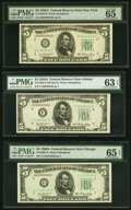 Small Size:Federal Reserve Notes, Fr. 1962-B; F; G $5 1950A Federal Reserve Notes. PMG Grade...