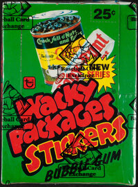 """1980 Topps """"Wacky Packages Stickers"""" 2nd Series Wax Box"""
