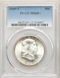 Franklin Half Dollars: , 1949-S 50C MS65+ PCGS. PCGS Population: (2188/447 and 53/34+). NGC Census: (1294/241 and 14/15+). CDN: $85 Whsle. Bid for N...