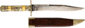 Edged Weapons:Knives, Sheffield Civil Ware Era Bowie Knife with Scabbard.. ...