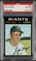 Baseball Cards:Singles (1970-Now), 1971 Topps Willie Mays #600 PSA NM-MT 8....