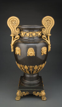 A Gilt Bronze-Mounted Patinated Copper Two-Handled Vase by Alexis Decaix, Designed by Thomas Hope for his Duchess Street...