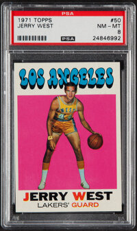 1971 Topps Jerry West #50 PSA NM-MT 8