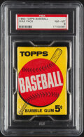 Baseball Cards:Unopened Packs/Display Boxes, 1963 Topps Five-Cent Wax Pack PSA NM-MT 8....
