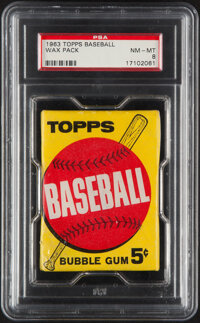 1963 Topps Five-Cent Wax Pack PSA NM-MT 8