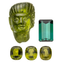 Unmounted Peridot, Tourmaline ... (Total: 5 Items)