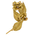 Estate Jewelry:Brooches - Pins, Cartier Diamond, Gold Brooch. ...