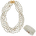 Estate Jewelry:Suites, Cultured Pearl, Gold Jewelry Suite Pearl: Cult...
