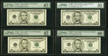 Small Size:Federal Reserve Notes, Fr. 1988-A; C; E; L* $5 2001 Federal Reserve Notes. PMG Gr...