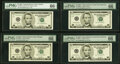Small Size:Federal Reserve Notes, Fr. 1990-F; G*; L* (2) $5 2003 Federal Reserve Notes. PMG ...