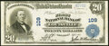 National Bank Notes:Kentucky, Louisville, KY - $20 1902 Plain Back Fr. 650 The First National Bank Ch. # 109 Very Fine-Extremely Fine.. ...