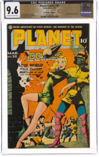 Planet Comics #35 The Promise Collection Pedigree (Fiction House, 1945) CGC NM+ 9.6 Off-white to white pages