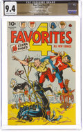 Golden Age (1938-1955):Superhero, Four Favorites #26 The Promise Collection Pedigree (Ace, 1946) CGC NM 9.4 Off-white to white pages....