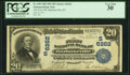 National Bank Notes:Kentucky, Barbourville, KY - $20 1902 Plain Back Fr. 650 The First National Bank Ch. # (S)6262 PCGS Very Fine 30.. ...
