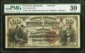 National Bank Notes:Kentucky, Princeton, KY - $20 1882 Brown Back Fr. 504 The Farmers National Bank Ch. # (S)5257 PMG Very Fine 30.. ...