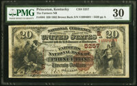 Princeton, KY - $20 1882 Brown Back Fr. 504 The Farmers National Bank Ch. # (S)5257 PMG Very Fine 30.</