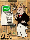 Prints & Multiples, Alec Monopoly (b. 1986). Slot Monopoly, early 21st century. Acrylic, spray paint, and collage on canvas with resin. 48 x...