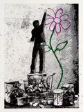Prints & Multiples, Mr. Brainwash (b. 1966). Eternity, 2013. Screenprint in colors with hand-embellishments on Archival Art paper, with date...