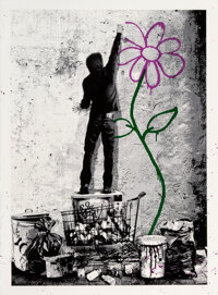 Mr. Brainwash (b. 1966) Eternity, 2013 Screenprint in colors with hand-embellishments on Archival Art paper, with date...