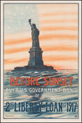 """Movie Posters:War, World War I Propaganda (U.S. Government Printing Office, 1917). Very Fine- on Linen. Second Liberty Loan Poster (20"""" X 30"""") ..."""