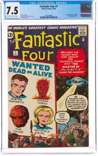 Fantastic Four #7 (Marvel, 1962) CGC VF- 7.5 Off-white to white pages