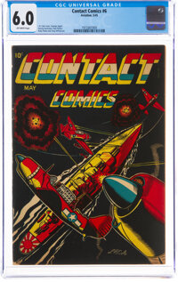 Contact Comics #6 (Aviation Press, 1945) CGC FN 6.0 Off-white pages