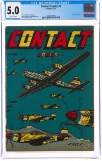 Contact Comics #5 (Aviation Press, 1945) CGC VG/FN 5.0 Off-white pages