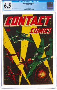 Contact Comics #3 (Aviation Press, 1944) CGC FN+ 6.5 Cream to off-white pages