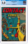 Golden Age (1938-1955):War, Contact Comics #2 (Aviation Press, 1944) CGC VG/FN 5.0 Off-white pages....