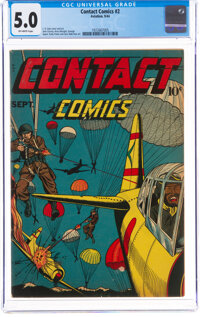 Contact Comics #2 (Aviation Press, 1944) CGC VG/FN 5.0 Off-white pages