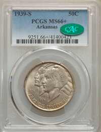 1939-S 50C Arkansas MS66+ PCGS. CAC. PCGS Population: (138/20 and 20/3+). NGC Census: (70/10 and 4/2+). CDN: $600 Whsle...