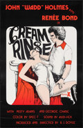 """Movie Posters:Adult, Cream Rinse (Unknown, 1976). Rolled, Very Fine-. One Sheet (22"""" X 34""""). Adult.. ..."""