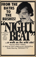 """Movie Posters:Adult, Night Beat (PM Productions, 1970s). Folded, Fine/Very Fine. Poster (19"""" X 30""""). Adult.. ..."""