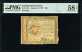 Colonial Notes:Continental Congress Issues, Continental Currency January 14, 1779 $55 PMG Choice About Unc 58 EPQ.. ...