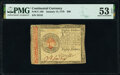 Colonial Notes:Continental Congress Issues, Continental Currency January 14, 1779 $80 PMG About Uncirculated 53 EPQ.. ...