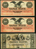 New Orleans, LA- New Orleans Canal & Banking Company $10 (2); $50 18__ Remainders Choice About Uncirculated. ... (To...