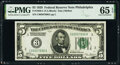 Small Size:Federal Reserve Notes, Fr. 1950-C $5 1928 Federal Reserve Note. PMG Gem Uncirculated 65 EPQ.. ...