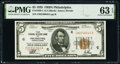 Small Size:Federal Reserve Bank Notes, Fr. 1850-C $5 1929 Federal Reserve Bank Note. PMG Choice Uncirculated 63 EPQ.. ...