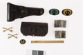 [Indian Wars]: Fort McKinney Cartridges, Holster, Cartridge Pouch, US Cavalry pins and Patches